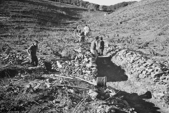 restauration de l'agulle principale à Pou Sagols